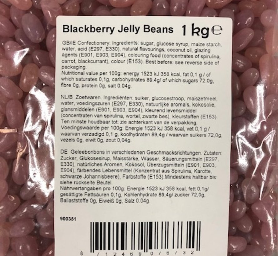 Jelly Beans Blackberry -1kilo