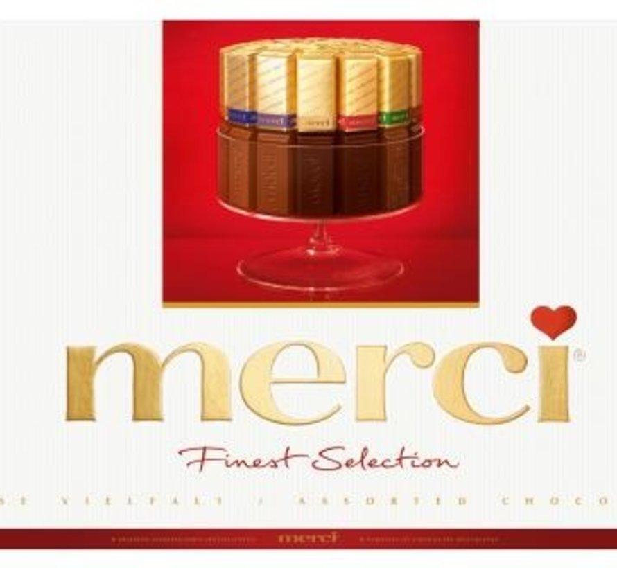 Merci Chocolade 400 gram -Doos 8 stuks