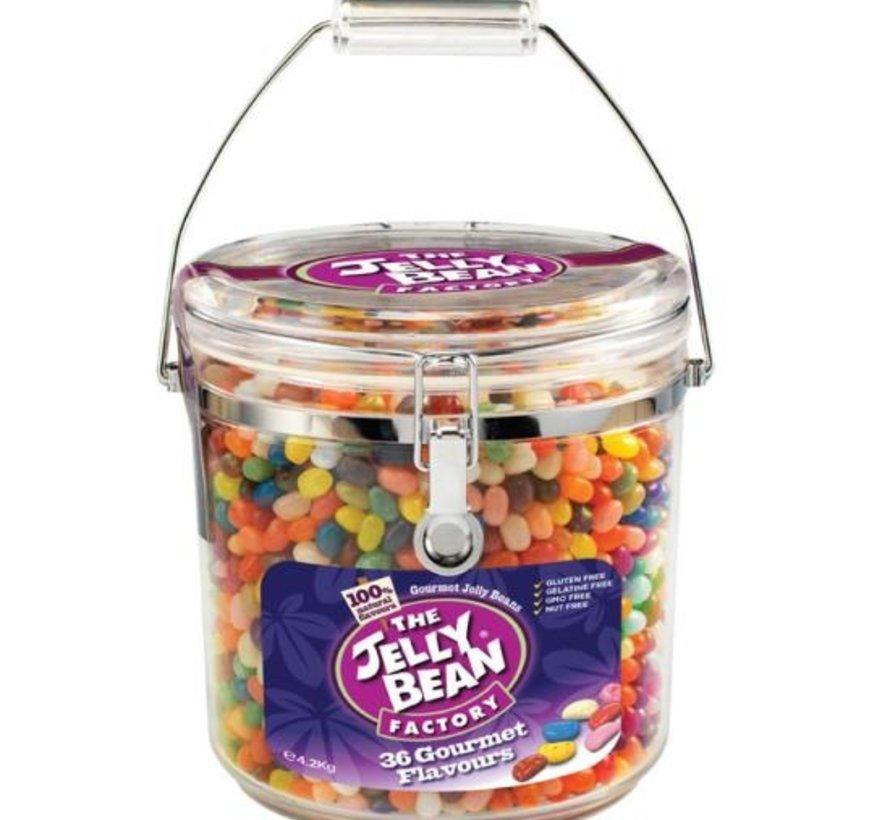 Jelly Beans Geschenk 36 smaken in glazen pot van 4,2 kilo