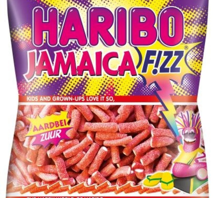 Haribo Jamaica zure sticks -Doos 12x200 gram