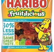 Haribo Fruitilicious minder suiker -Doos 16 stuks