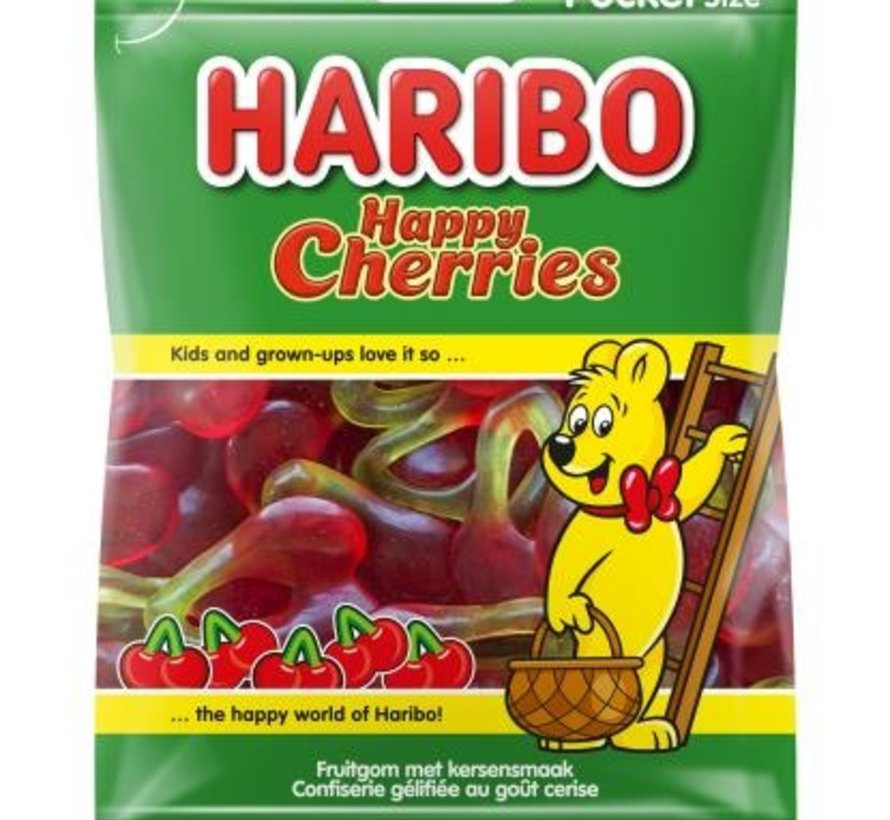 Haribo kersen Happy Cherries -Doos 28 x 75 gram