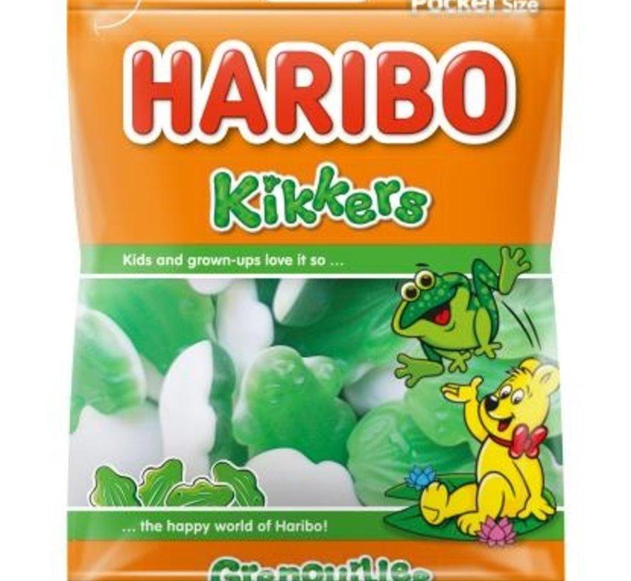 Haribo groene Kikkers -Doos 28 x 75 gram
