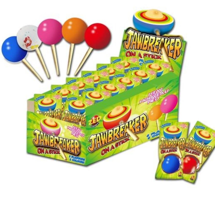 Jawbreaker Lollies  On A Stick -Doos 15 Stuks