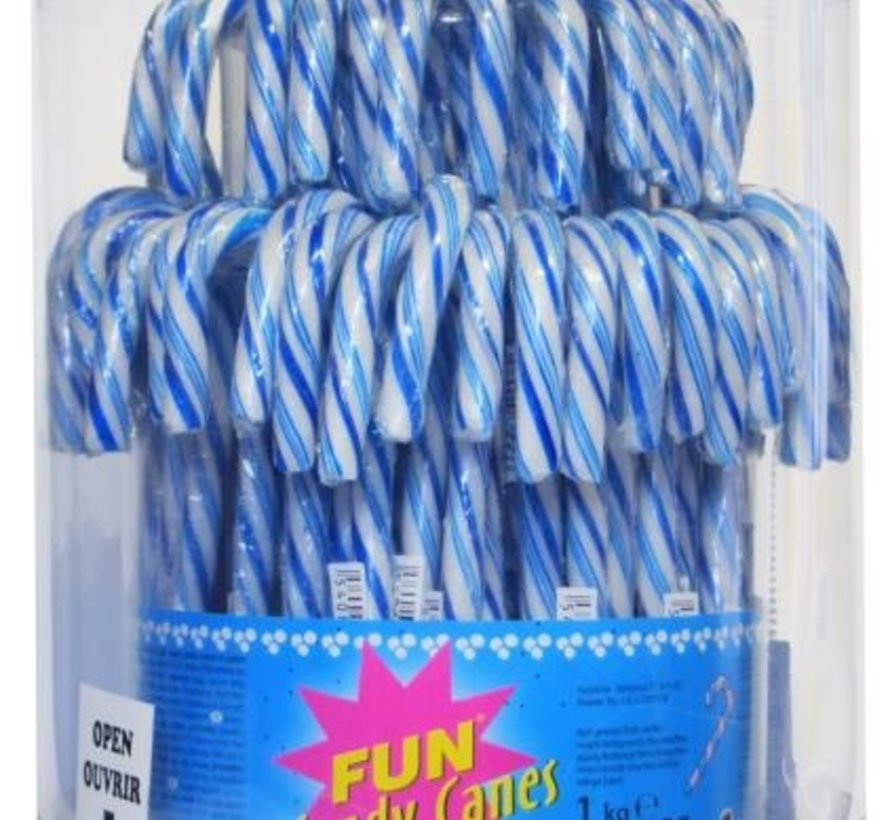 Candy Canes Blauw Wit Silo 72 Stuks