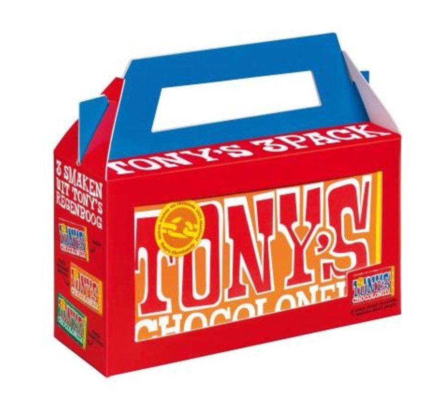 Tony's Chocolonely 3-pack kado verpakking