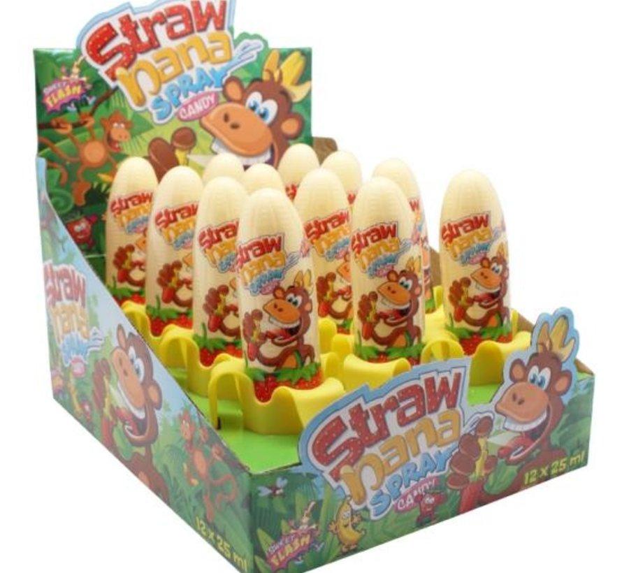 Strawnana Candy Spray - Doos 12 Stuks