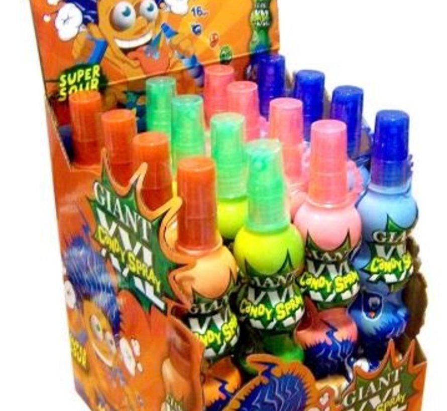 MEGA XXL Candy Spray -Doos 16 stuks
