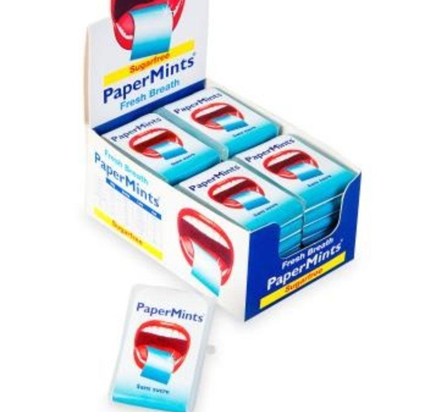PaperMints Fresh Breath Blaadjes -Doos 24 stuks
