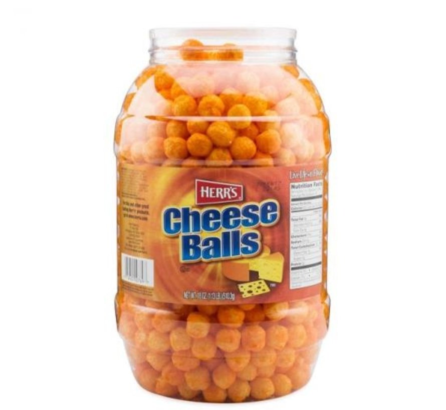 Cheese Balls Barrel Herr'S Usa- Halve Kilo