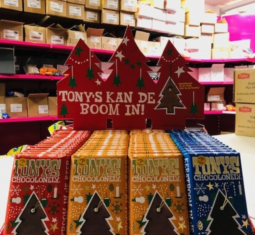 Tony's Kerst Display Gluhwein Candy Cane en Gemberkoekjes  60 stuks