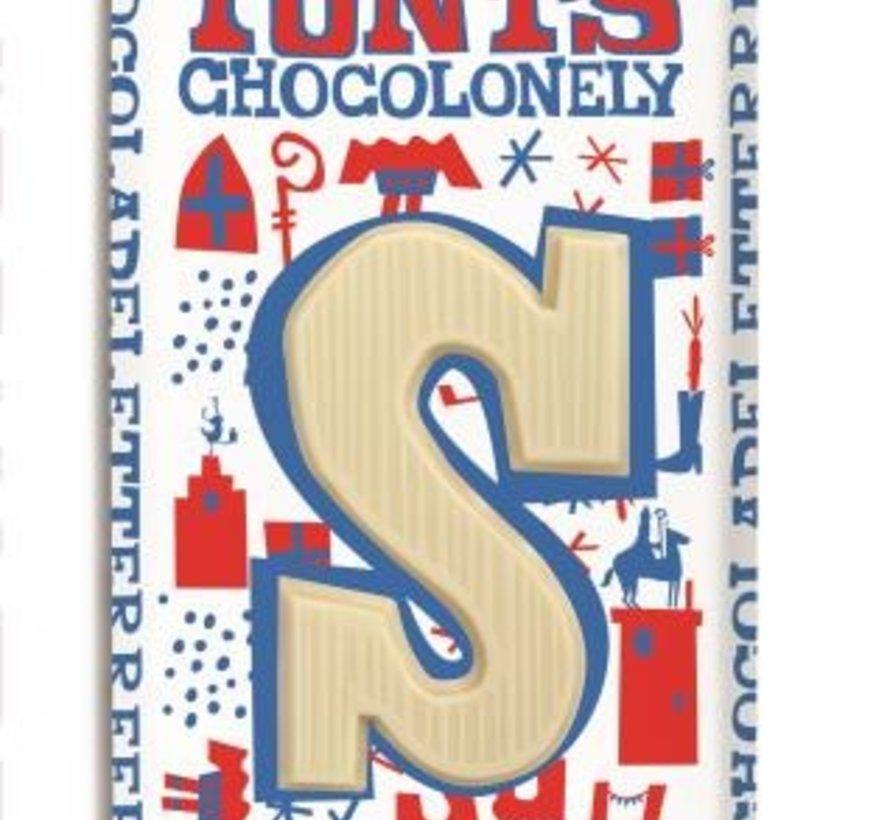 Tony Chocoladeletter Wit Doos 15 Stuks