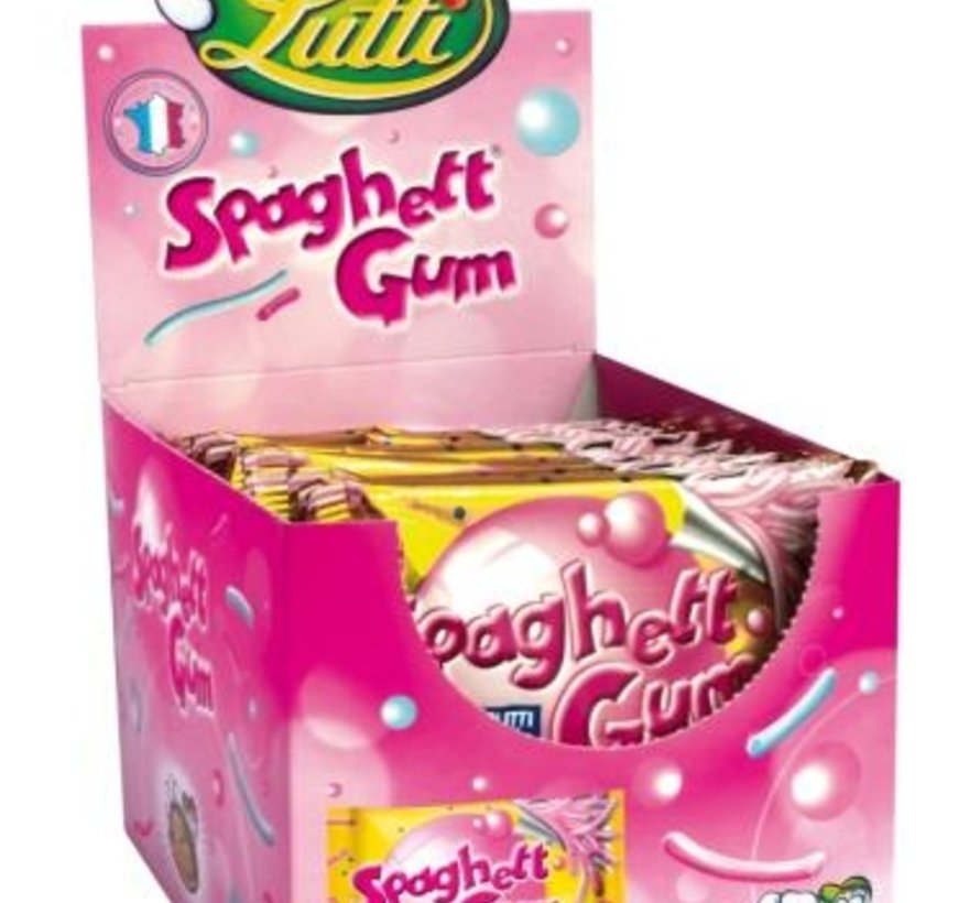 Spaghetti Gum Tutti Frutti -Doos 24 stuks