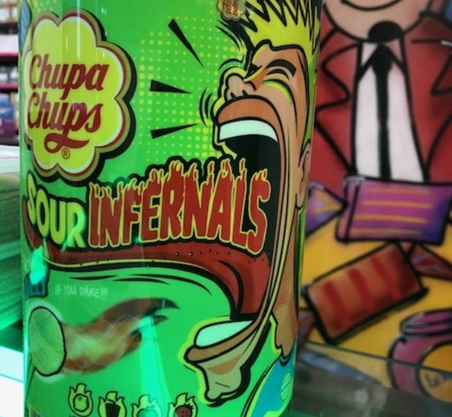 Sour Infernals Lollies -Silo 100 stuks
