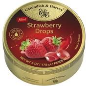 Cavendish & Harvey Strawberry Drops -Doos 9 blikken