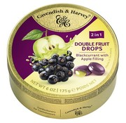 Cavendish & Harvey Black Currant Apple Drops -Doos 9 blikken