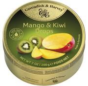 Cavendish & Harvey Mango & Kiwi Drops -Doos 9 blikken