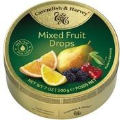 Cavendish & Harvey Mixed Fruit Drops -Doos 9 blikken