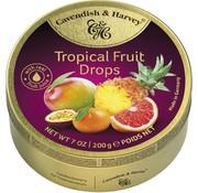 Cavendish & Harvey Tropical Fruit Drops -Doos 9 stuks
