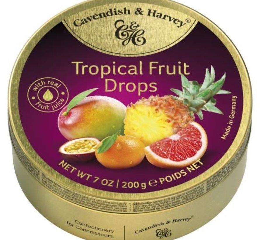 Tropical Fruit Drops -Doos 9 stuks