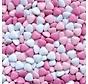 Roze Chocolade Dragee Hartjes -silo 900 Gram