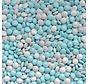 Blauw Wit Mini Dragee -Silo 900 Gram