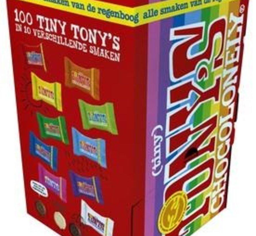 Chocolonely Tiny Tony'S Regenboog Mix -Doos 100 Stuks