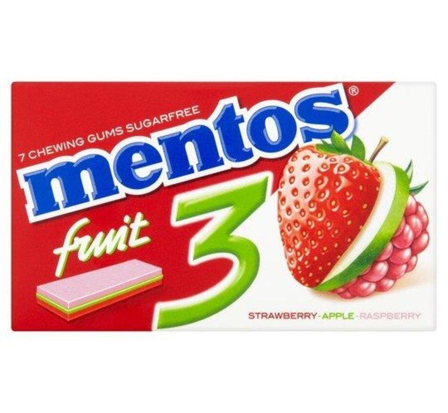 Mentos Fruity SUIKERVRIJ -Doos 12 stuks