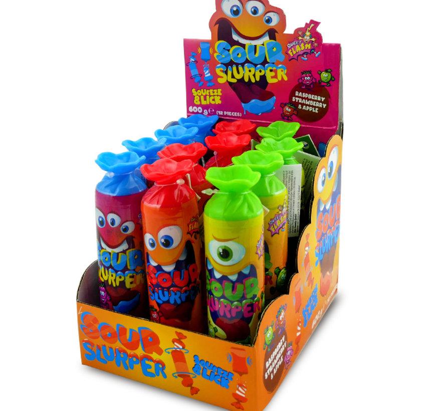 Sour Slurper Squeeze&Lick -Doos 12 stuks