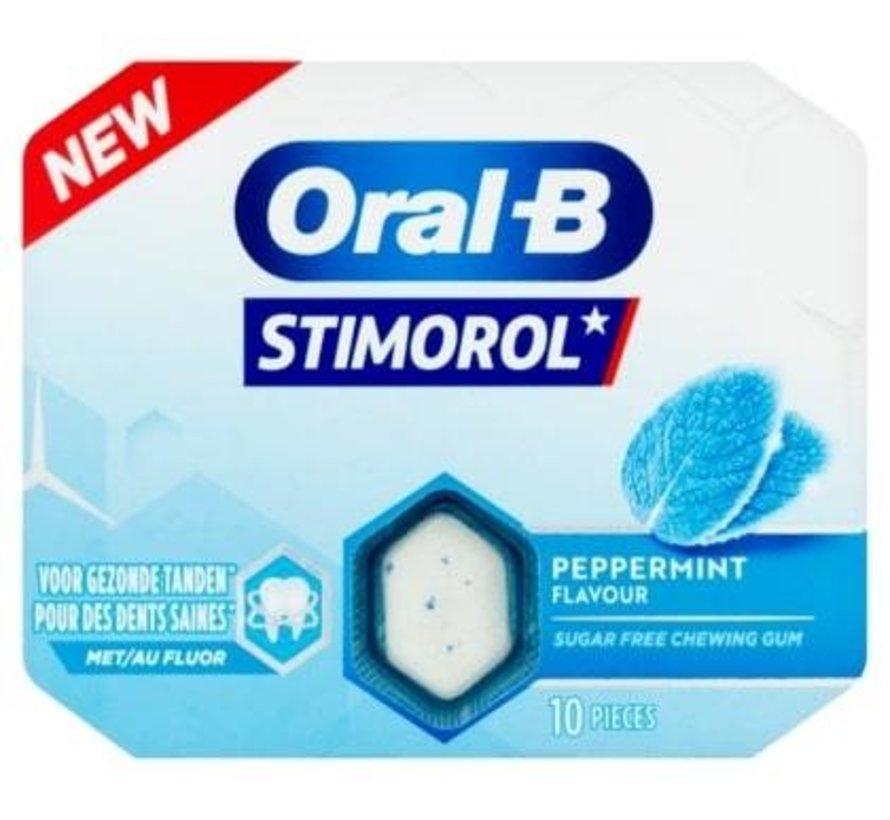 Stimerol Oral-B Peppermint Kauwgom SUIKERVRIJ -Doos 12 stuks