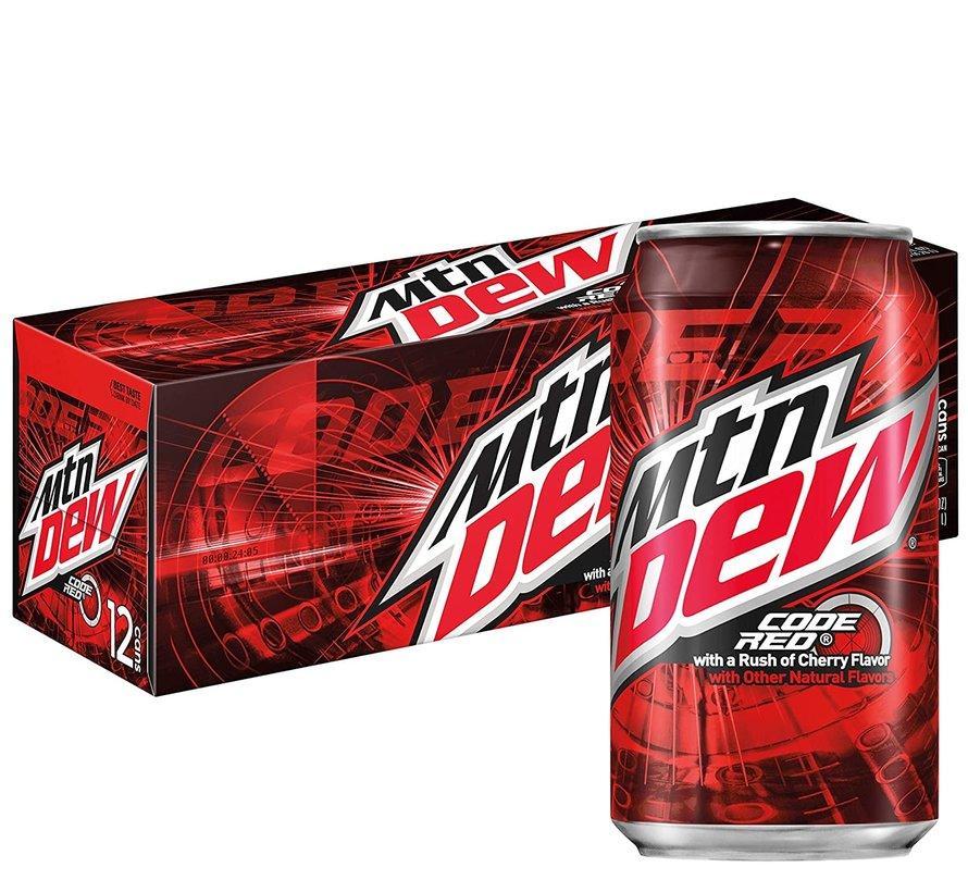 Mountain Dew Code Red Cherry Flavor -Tray 12 stuks