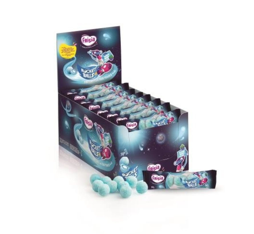 Zure Blauwe Kogels Strip -Doos 50x5