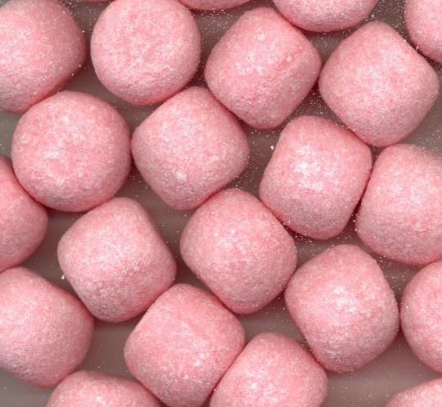 Roze Zure Aardbei Kogels in 4 kilo bulk