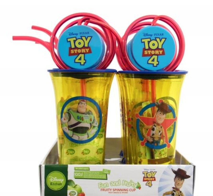 Toy story 4 fruity spinning cup  Doos 8 stuks