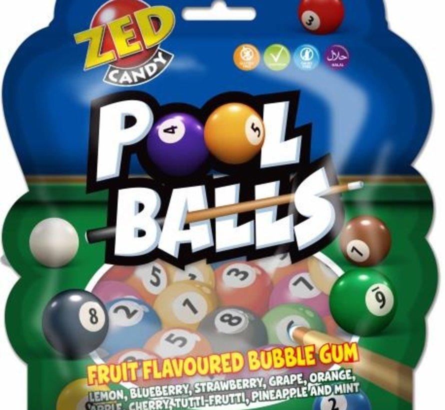 Poolballs - fruit flavoured bubble gum - zak 12 stuks