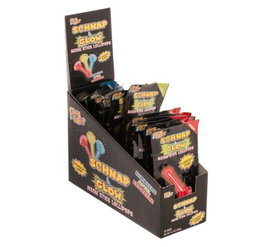Neon Stick lollypops - 24 stuks