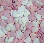 Baby Roze Wit Dextrose Hartjes - 1 Kilo