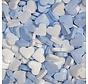 Blauw Wit Dextrose Hartjes - 1 Kilo