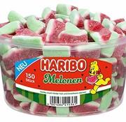 Haribo Watermeloen puntjes -silo 150 stuks