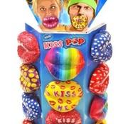 Wom Kiss Lips Lolly Tutters -24 stuks