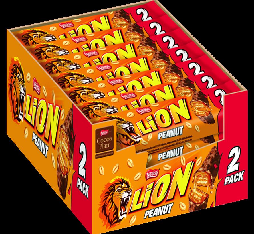 Lion Peanut 2-Pack  -Doos 28 Stuks