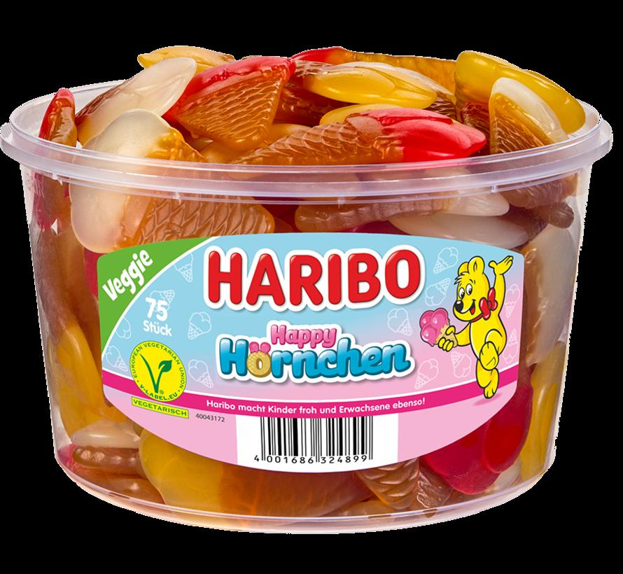 Haribo Happy Hornchen - Veggie - silo 75 stuks