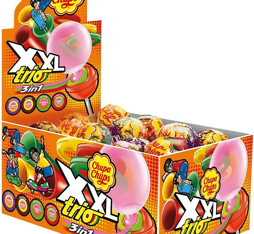 Chupa Chups TRIO XXL Lolly -Doos 25 stuks