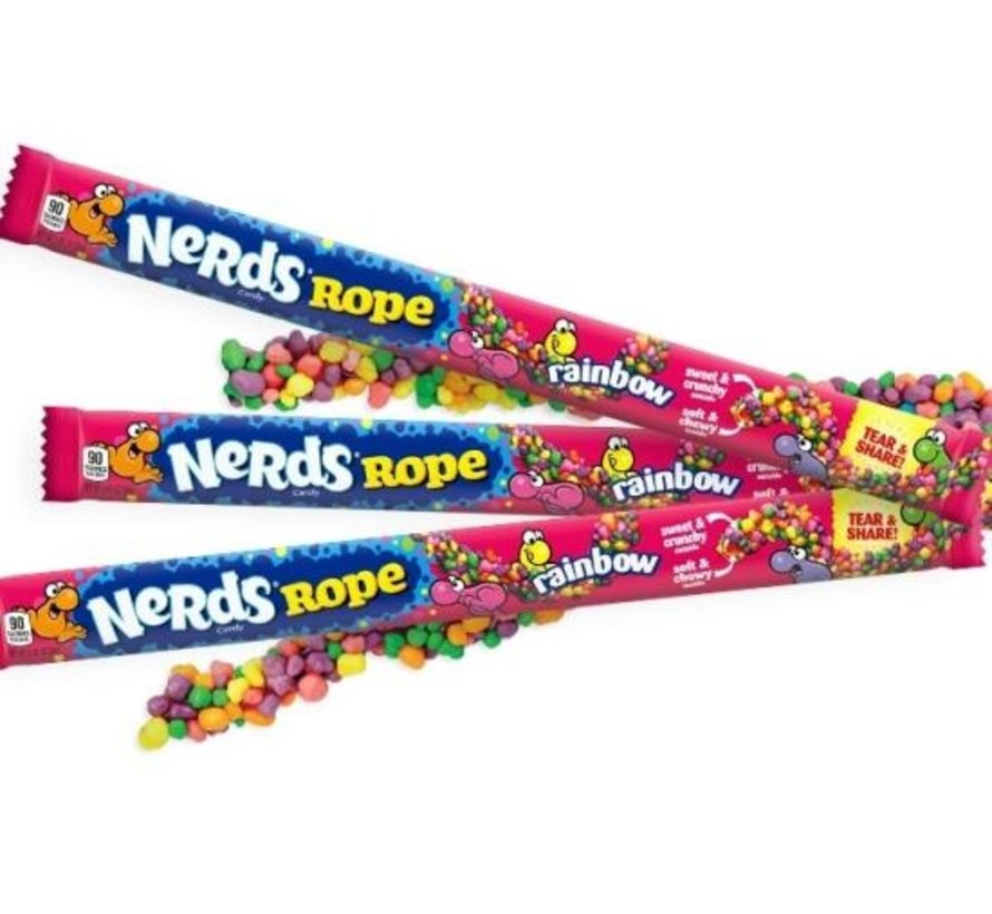 Nerds Rope Rainbow -Doos 24 stuks