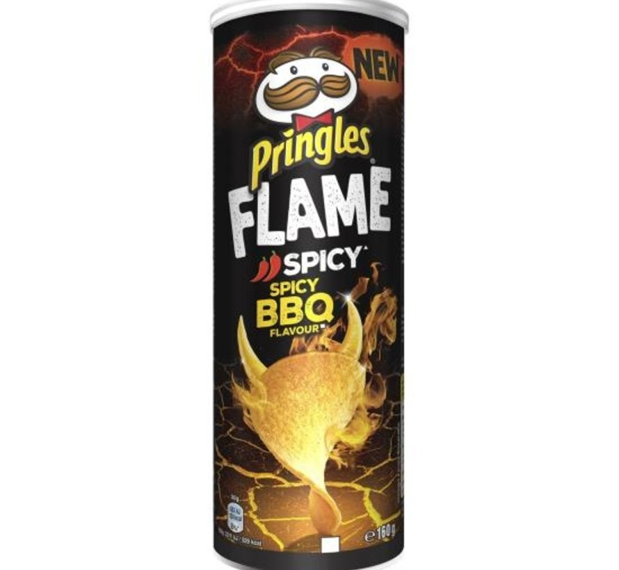 Pringles Flame Spicy BBQ -Doos 9 stuks