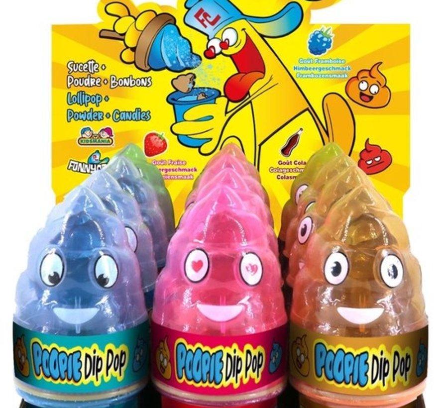 Poopie Dip Pop -Doos 12 stuks