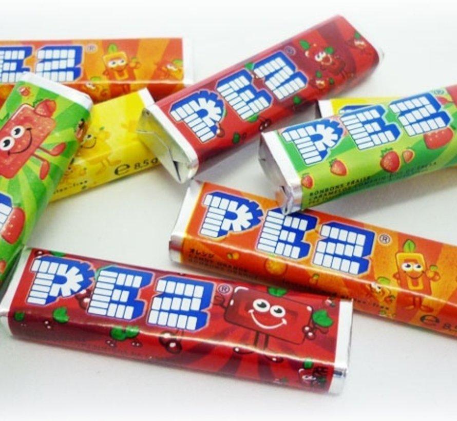 Pez Fruits 8X Navulling -Doos 24 Stuks