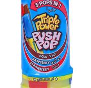 Bazooka Triple Power Push Pop -Doos 12 stuks