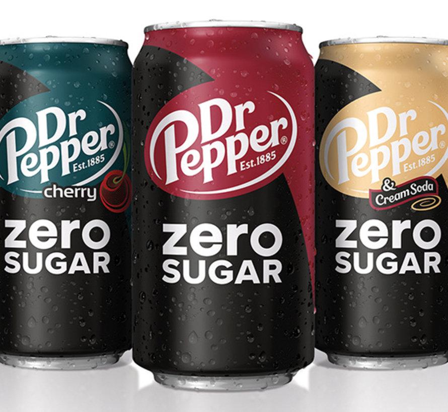 Dr Pepper Cherry ZERO SUGAR -Tray 12 stuks