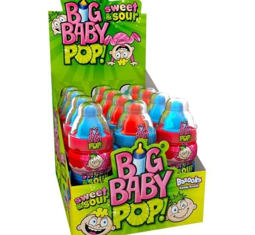 Big Baby Pop MEGA SOUR -Doos 12 Stuks